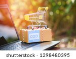 cash on delivery express... | Shutterstock . vector #1298480395