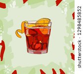 cocktail americano scetch ... | Shutterstock .eps vector #1298485852