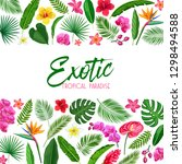 vector tropical layout page...   Shutterstock .eps vector #1298494588