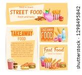 fast food banners. takeaway... | Shutterstock .eps vector #1298495842