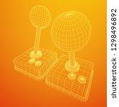 retro video game controller...   Shutterstock .eps vector #1298496892