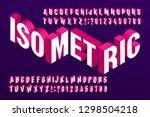 3d isometric alphabet font. 3d... | Shutterstock .eps vector #1298504218
