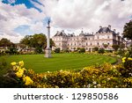 the palace in the luxembourg... | Shutterstock . vector #129850586