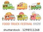 vector sketch food festival...   Shutterstock .eps vector #1298511268