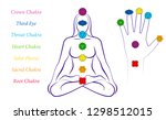 body and hand chakras of a... | Shutterstock .eps vector #1298512015