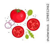tomatoes. red tomato icon with...   Shutterstock .eps vector #1298512462