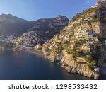 view of positano village along... | Shutterstock . vector #1298533432