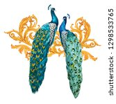 watercolor illustration of... | Shutterstock . vector #1298533765