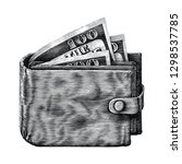 wallet with full money hand... | Shutterstock .eps vector #1298537785