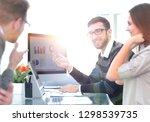 business team discussing... | Shutterstock . vector #1298539735