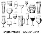 big set of different alcoholic... | Shutterstock .eps vector #1298540845