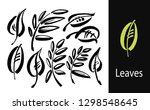 icon vector leaf. eco nature... | Shutterstock .eps vector #1298548645