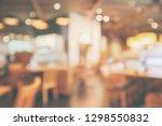 restaurant interior with... | Shutterstock . vector #1298550832