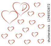 valentine card with red hearts | Shutterstock .eps vector #1298552872