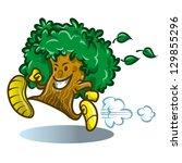 cartoon running tree | Shutterstock .eps vector #129855296