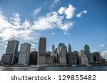 future city   new york skyline | Shutterstock . vector #129855482
