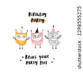 baby print  birthday party.... | Shutterstock .eps vector #1298555275