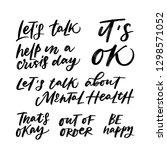 let's talk  it's ok  help in a... | Shutterstock .eps vector #1298571052
