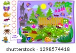 printable educational page for... | Shutterstock .eps vector #1298574418