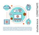 cinema concept linear...   Shutterstock .eps vector #1298576695