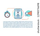 cinema concept linear...   Shutterstock .eps vector #1298576698