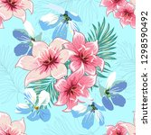 seamless pattern of a tropical... | Shutterstock .eps vector #1298590492