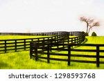 equine fences curving across... | Shutterstock . vector #1298593768