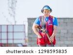 shooting sports. team workouts  ... | Shutterstock . vector #1298595835
