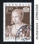 austria   circa 1971  stamp... | Shutterstock . vector #129861068