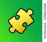 Puzzle Piece Sign. Vector. Pop...