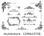black elegant elements set of... | Shutterstock .eps vector #1298615728