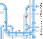 pipeline background. vector... | Shutterstock .eps vector #1298645515