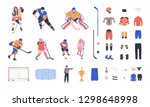 ice hockey vector colorful... | Shutterstock .eps vector #1298648998