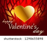 valentine's day greeting card | Shutterstock .eps vector #1298655898