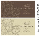 wedding invitation cards... | Shutterstock .eps vector #129866258