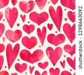 seamless pattern with hearts.... | Shutterstock .eps vector #1298663092