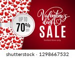 valentine's day holiday sale 70 ... | Shutterstock .eps vector #1298667532