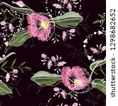 cute trendy floral pattern....   Shutterstock .eps vector #1298682652