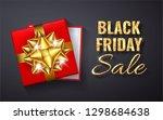 black friday sale golden...   Shutterstock .eps vector #1298684638