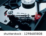 disassembled magnetic device... | Shutterstock . vector #1298685808