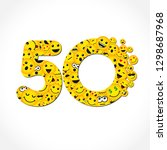 50 th years old congrats.... | Shutterstock .eps vector #1298687968