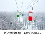 cable car in central park in... | Shutterstock . vector #1298700682