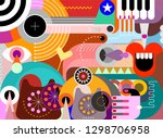 abstract art design with... | Shutterstock .eps vector #1298706958