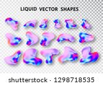 fluid shape layout isolated... | Shutterstock .eps vector #1298718535