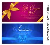 gift card template with... | Shutterstock .eps vector #129871862