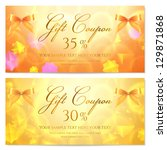 gift coupon  card  template.... | Shutterstock .eps vector #129871868