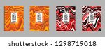 covers templates set with...   Shutterstock .eps vector #1298719018