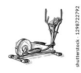 sketch hand drawn gym equipment ... | Shutterstock .eps vector #1298722792