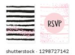 bridal shower card with dots... | Shutterstock .eps vector #1298727142