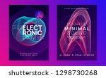 music fest. dynamic gradient... | Shutterstock .eps vector #1298730268